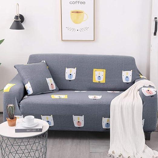 DUANGONGZI Fundas De Sofa Anti Gatos Curve Impreso Muebles ...