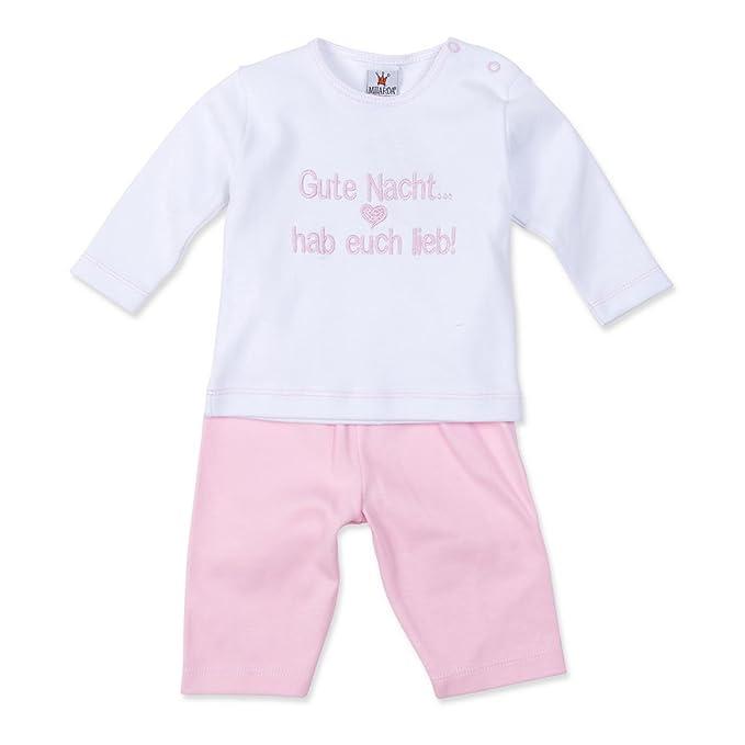 Milarda - Pijamas enteros - para bebé niña weiß-rosa 2 mes