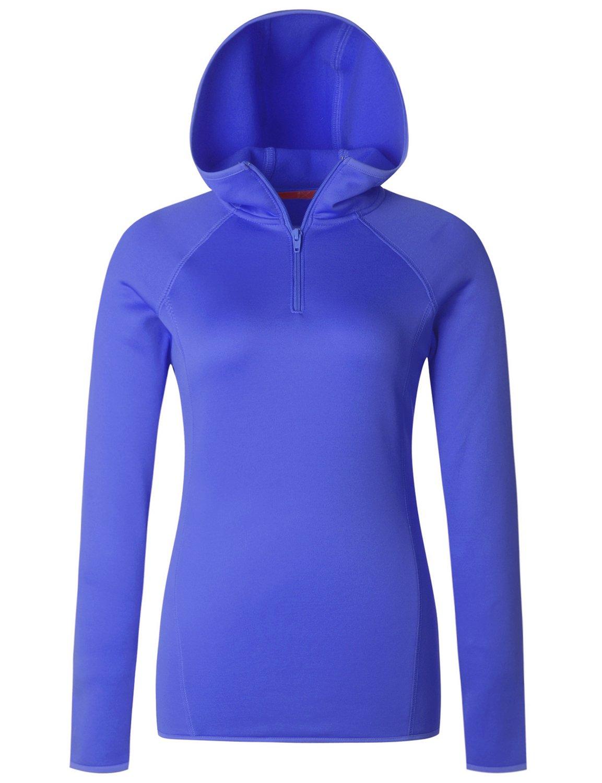 Regna X Love Coated Women Full Zip EcoSmart Fleece Hoodie Jacket Ocean S