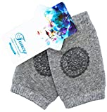7 month old baby girl - Baby Knee Pads Toddlers Crawling Anti-slip Protect Socks Ifant Elbow Kneecaps Leg Warmer (pack of 2) (3-12 Months Baby, Light Grey)