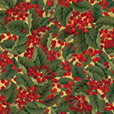 Caspari Entertaining with Continuous Gift Wrapping Paper, Christmas Berries Roll, 9-Foot, 1-Roll