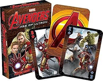 AQUARIUS Juego de Cartas de la Serie Avengers, de Marvel; 2 Age of Ultron: Amazon.es: Juguetes y juegos