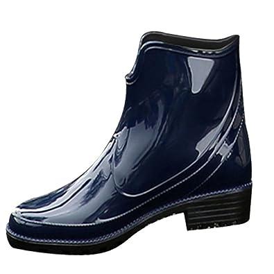 save off 358b4 529f5 SGoodshoes Donna Stivali Pioggia Bassi Stivali In Gomma alla Caviglia  Scarponcini Impermeabile
