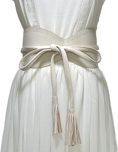 Womens Ladies Waistband Dress Waist Belt Wide Leather Waist Band Obi Belt Decor