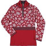 Krimson Klover Womens Eva Maria 1/4 Zip Pullover Sweater (Red / X-Large)