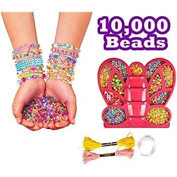 Amazon 10000 Beads Diy Girls Friendship Bracelets Making Kit