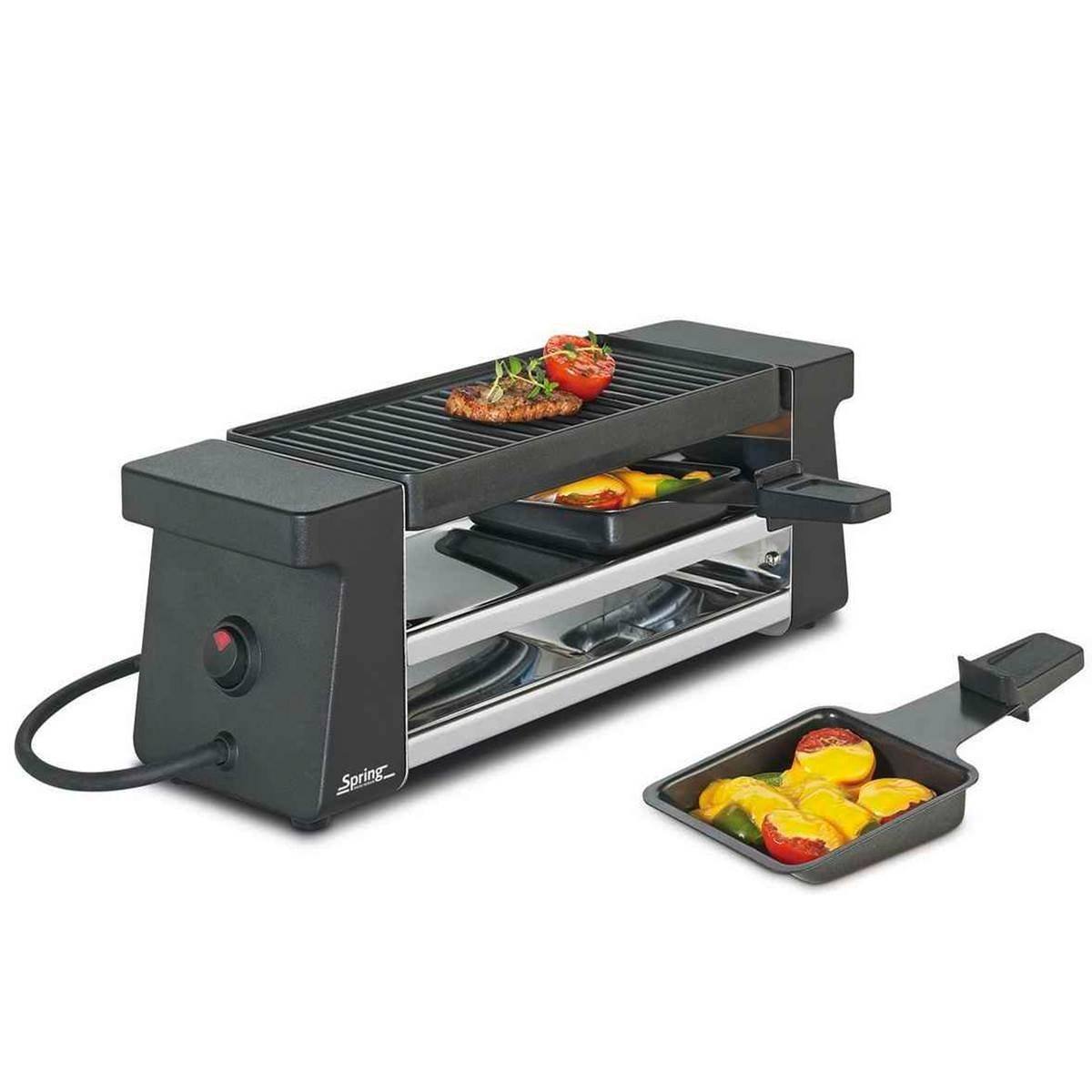 Spring - Set per raclette Compact, colore: Nero 30 3700 70 01