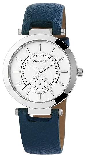 Reloj mujer RELOJ bicolor piel sintética banda 22 cm Azul Oscuro hebilla 195023000202