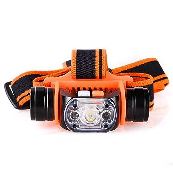 MCCC LED 1 x 18650 Recargable Linterna Frontal con Sensor de Movimiento, 4 Modos de
