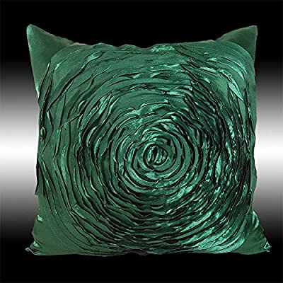 Pillowcases Colors 2x 3d Raised Rose Cushion Covers Throw Pillow Cases 16""