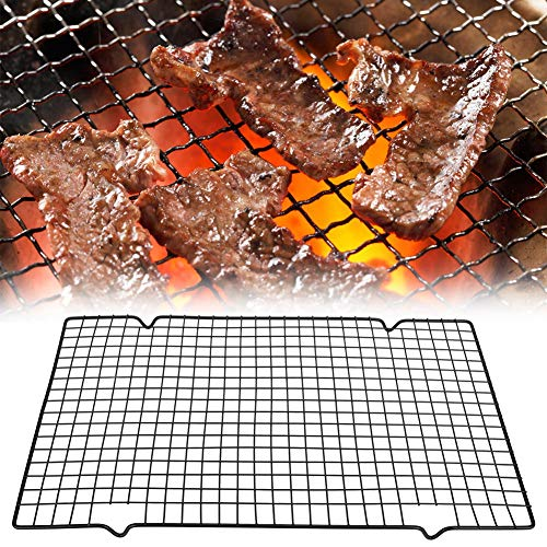 Barbecue Net, Rectangle BBQ Wire Mesh Grill Net Barbecue Grilled Grid Outdoor Camping Picnic Tool Gift