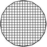 50 Degree Grid Eggcrate Grid for Pro Studio Solutions EZ-Pro Beauty Dish and Softbox Combo 2x2x1.5 Openings 24in 60cm
