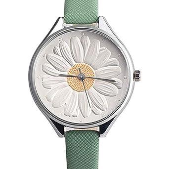 mujeres Relojes, moeavan Mujeres de cuarzo relojes de räumungs de 3d Girasol de analógico de