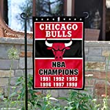 WinCraft Chicago Bulls 6 Time NBA Champions Double Sided Garden Flag