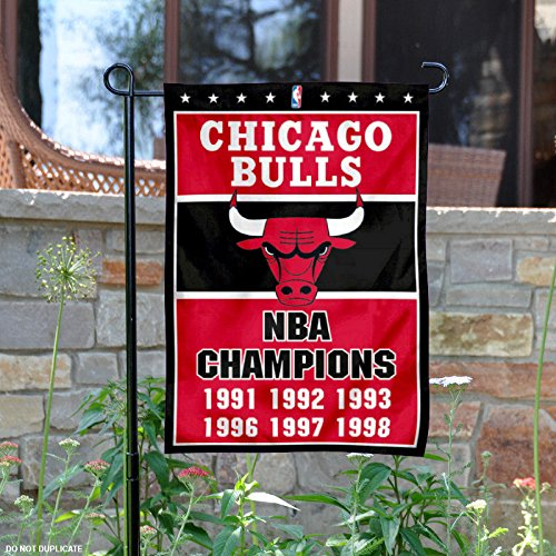 WinCraft Chicago Bulls 6 Time NBA Champions Double Sided Garden Flag by WinCraft
