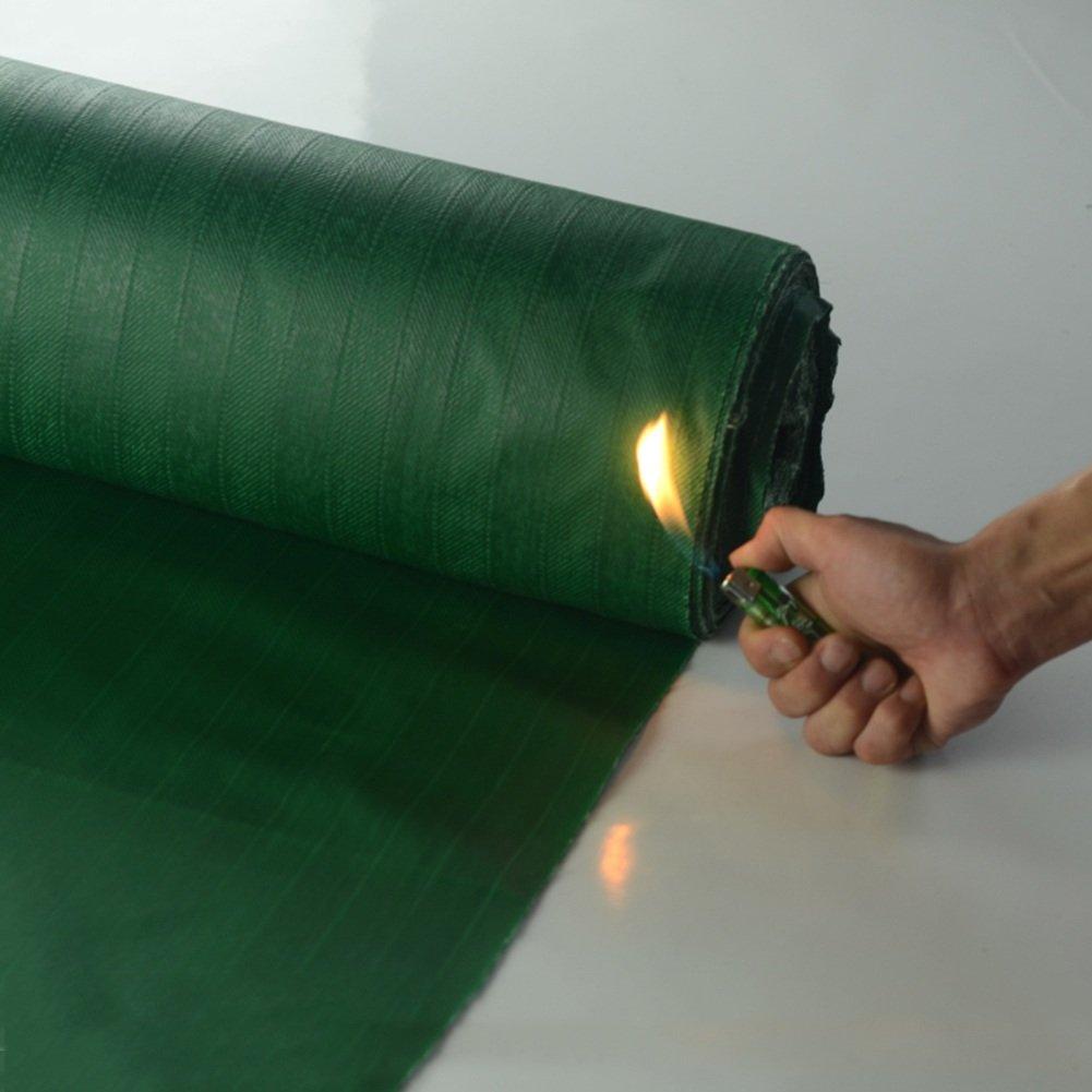 KKCF オーニング オーニング サンシェード オーニングシェード タープ  オーニング 日よけ PVC ガラス繊維 防火 難燃剤 厚い 耐高温性 防炎ヘッド 耐溶接スラグ、550g/m²、厚さ0.5mm (色 : Green, サイズ さいず : 5x4m) B07FX6MCGM 5x4m|Green Green 5x4m