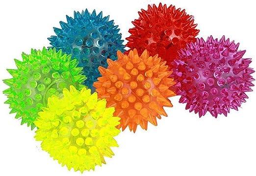 Pack de 6 bolas luminosas elásticas, con Sonido, para Perro, 6,35 ...