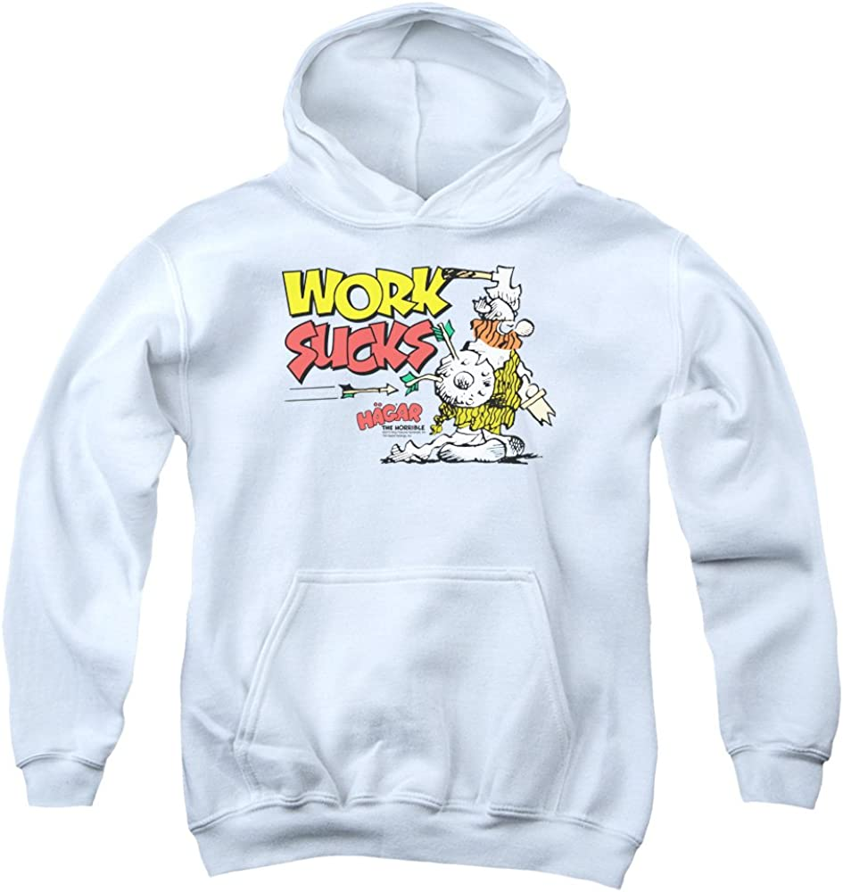 MMM Merchandising Hagar The Horrible Mens Work Sucks Pullover Hoodie