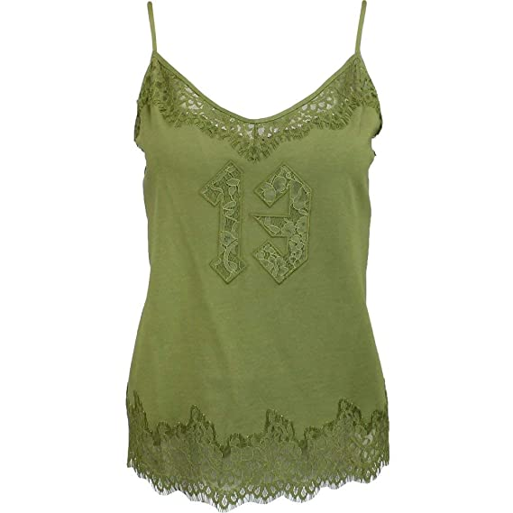 0f48df999d3b Image Unavailable. Image not available for. Colour  PUMA Women s Fenty Lace  Trim Sleepwear Cami Olive Branch Small