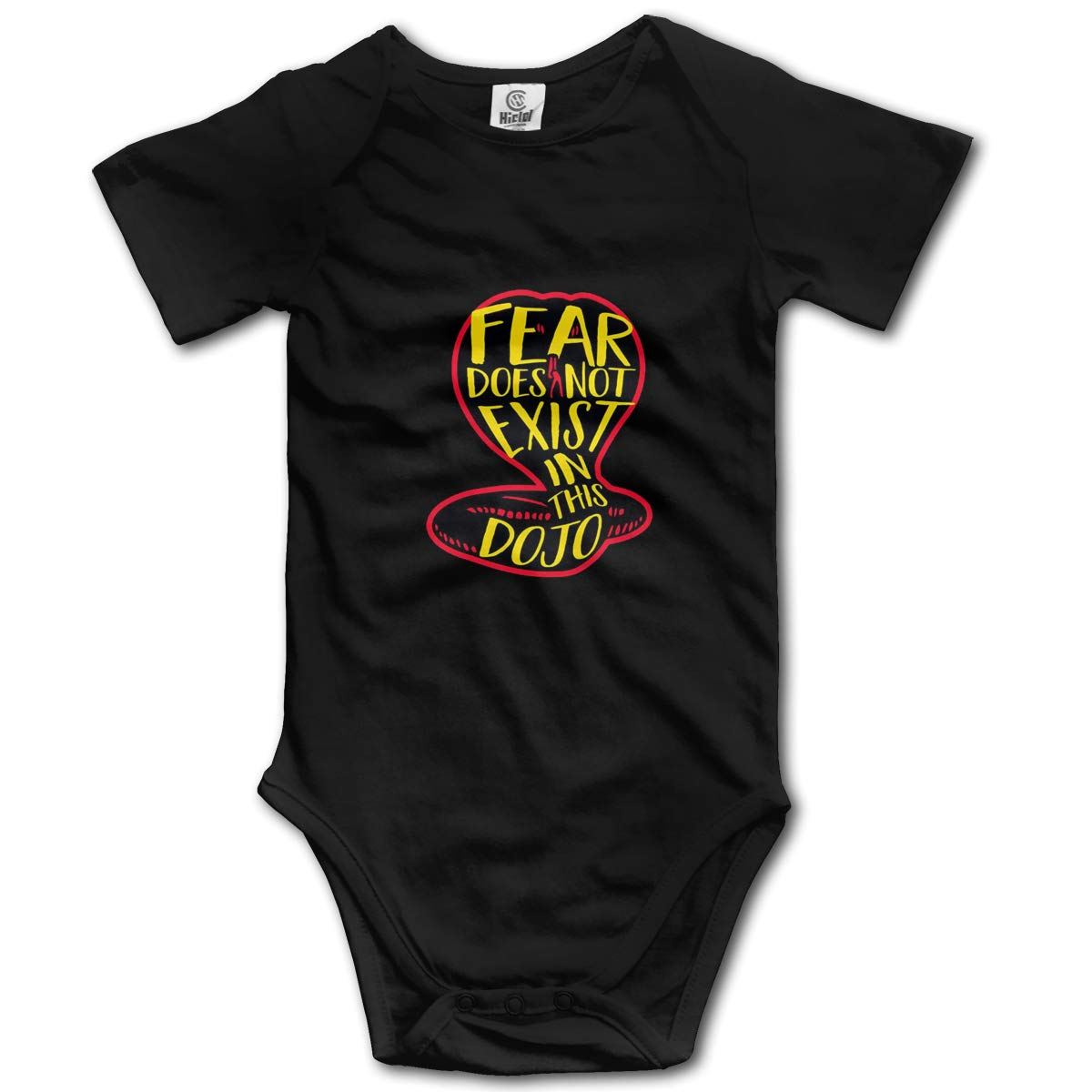 Fear Does Not Exist in This Dojo Newborn Infant Toddler Baby Girls Boys Bodysuit Short Sleeve 0-24 MonthsBlack