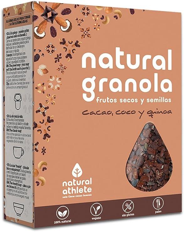 Granola Natural Athlete, Frutos Secos y Semillas, Sin Azúcar ...