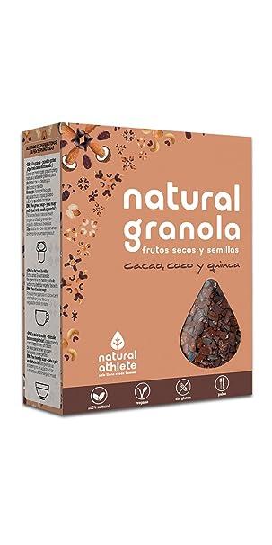 Natural Granola 100% Natural, sin azúcar refinado. (Cacao, coco y quinoa