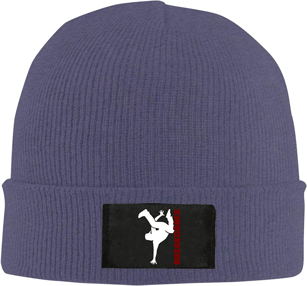 Unisex Breakdance Silhouette Knitted Hat 100/% Acrylic Soft Skiing Cap