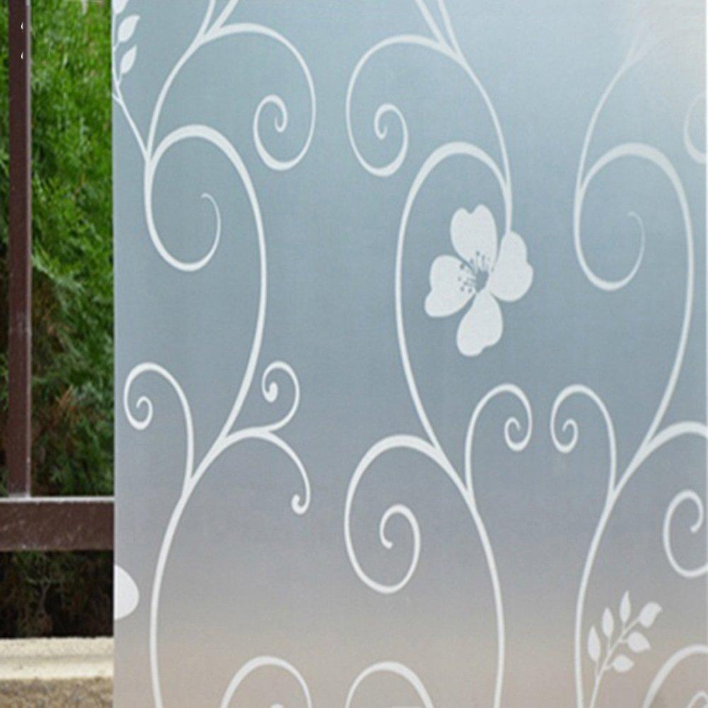 Bluelans Autocollant dépoli à poser sur fenêtre pour décorer ou offrir de l'intimité–45 x 100cm, Vinyle, blanc, Taille unique