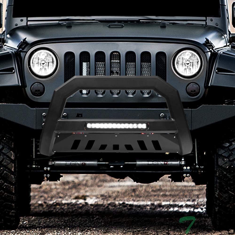 3 inches Black Front Brush Bumper Guard Grille Guard Push Guard Off Road Automotive Exterior Accessories Exclude 2018 Wrangler JL Models TAC Bull Bar Fit 2010-2018 Jeep Wrangler JK