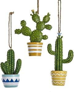 Kurt Adler Set of 3 Cactus Ornaments