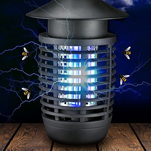 SereneLife UV Mosquito Trap, Battery Bug Zapper Outdoor, Fly Trap Light Indoor, in Home Bug Zapper, Indoor Flying Insect Killer, Chemical Free, 200+ Ft, Flies, Mosquitoes, Beetles, Moths (PSLBZ6)