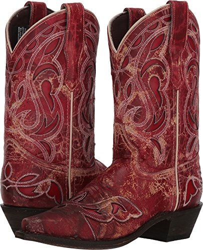 Laredo Western Boots Womens Snip No More Drama Cowboy 8.5 M Red - Mid Leather Red Footwear