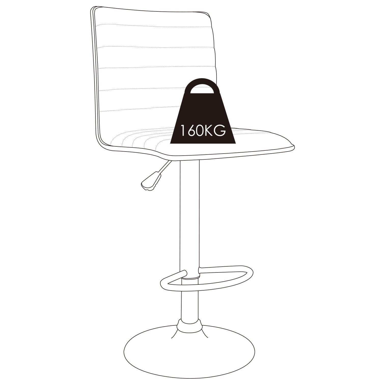 HOMFA 2x Barhocker Barstühle Design Hocker mit Fußablage drehbar