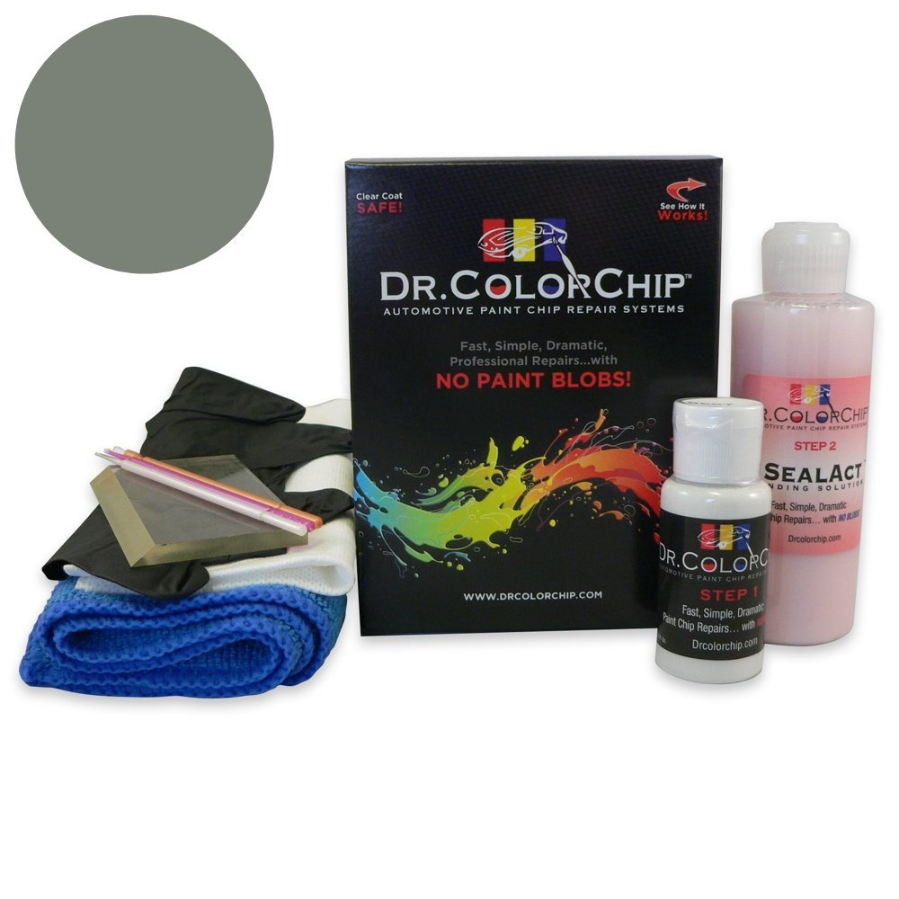 Dr. ColorChip Lexus RX350 Automobile Paint - Tungsten Pearl Metallic/Silver Metallic 1G1 - Squirt-n-Squeegee Kit