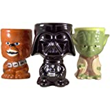Star Wars Gift Set of 3 Darth Vader Chewbacca and Yoda 10 Ounce Drink Mug Goblet