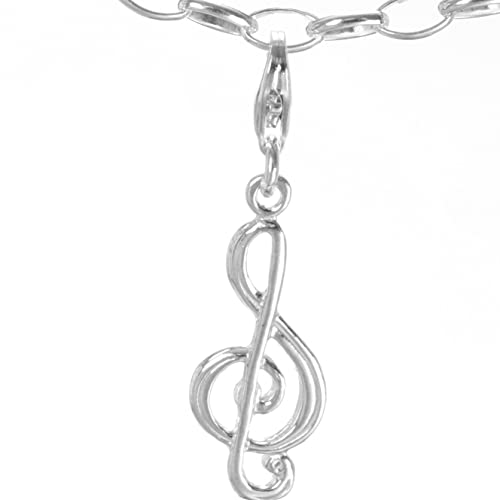 Sterling Silber Charm Anhänger Bettelarmband Musik Note für Armband    Halskette C 324 facb14425e