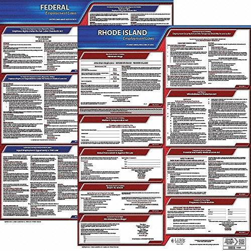 Labor Law Poster Kit, RI Federal and State Labor Law, English ()