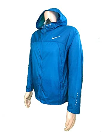 0ca8b8db2ba9 Image Unavailable. Image not available for. Color  Nike Impossibly Light  Hooded Running Jacket 457 L.arge Blue