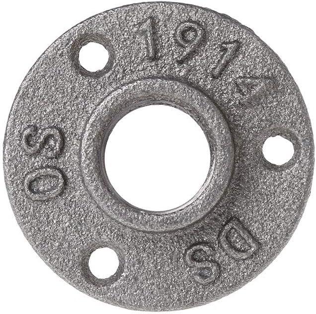 Bodenflansch industriell Eisenrohrarmaturen Sweo Flanschmutter Wandmontage 1//2 Tempergewinde