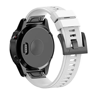 Correas para Garmin fenix 5 GPS, Sannysis banda de silicona de garmin fenix 5 correa (Blanco): Amazon.es: Deportes y aire libre