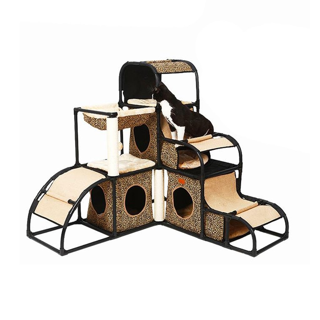 A Pet House Cat Climbing Frame Cat Nest Cat House Cat Rack Splicable Cat Scratch Board Cat Toy Kennel Pet Supplies Rest mat (color   A)