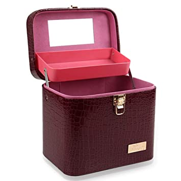279014ab73ac Amazon.com : Cityeast Professional Makeup Train Case with Lock and ...