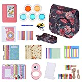 Fuji Case, Andoer Camera Accessories for Fujifilm Instax Mini 9/8/8+/8s Instant Camera 14 in 1 Bundle with Selfie Lens/Colored Filter/Album/Film Table Frame/Wall Hanging Frame/Stickes &more