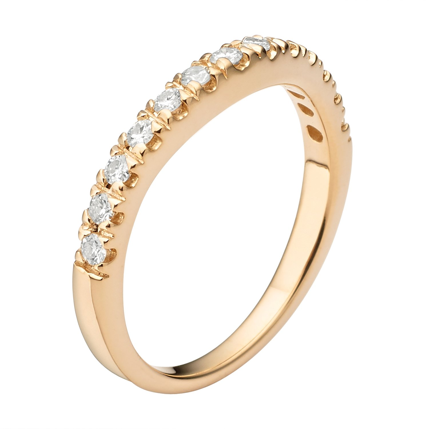 Forever Classic Yellow Gold 1.8mm Moissanite Wedding Band - size 6, 0.33cttw DEW By Charles & Colvard by Charles & Colvard (Image #2)