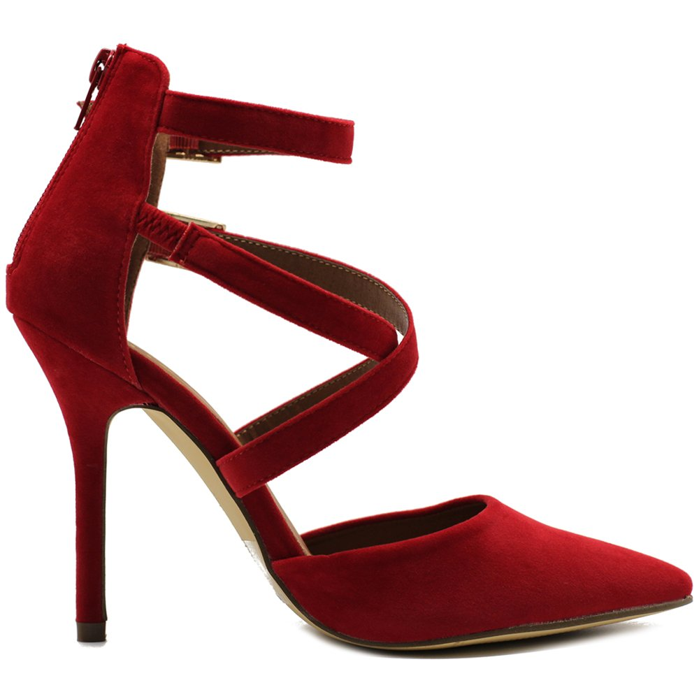 OllioSSH0001 - High-Heels knöchelhoch Damen Rot (rot) (rot) (rot) 36.5 B(M) EU b1b5c4