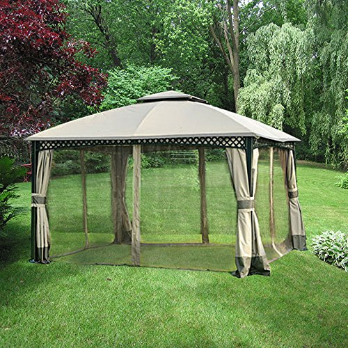 Garden Winds Replacement Canopy For Windsor Dome Gazebo RipLock 350