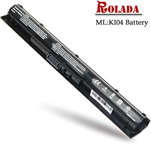 ROLADA K104 Notebook Battery Replacement for HP Pavilion 14-ab 14T-ab 15-ab 15-an 17-g Series TPN-Q158 HSTNN-LB6S HSTNN-LB6R; P/N 800049-001 800050-001 800010-421 800009-421