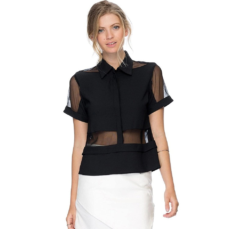 BOMOVO Damen Sommerkleid Elegant In Patchwork Design Lace Kleid ...