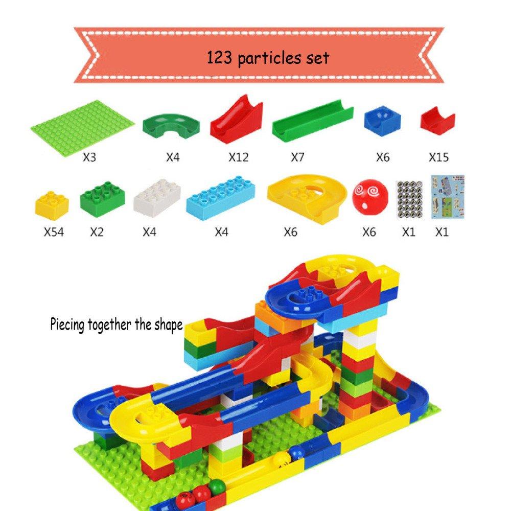 123particles  QXMEI Blocs De Construction pour Enfants Jouets Gros Casse-tête Particules 48 Bloc De Piste De Grain,72particles