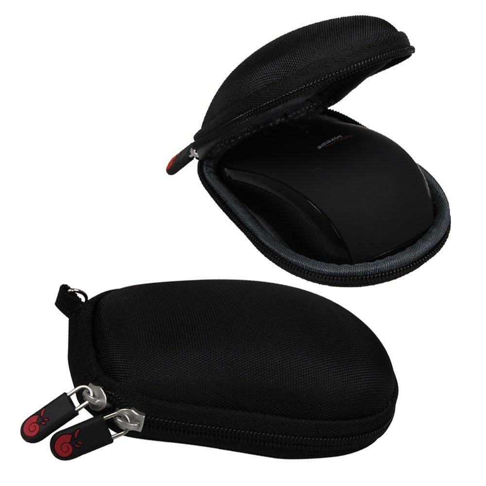Hermitshell dur de stockage EVA couverture Housse é tui de protection et un mousqueton pour Basics Wireless Mouse Souris with Nano Receiver MGR0975